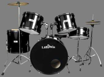 LanDwin กลองชุด 5 ใบ Drum Set 5 pcs 22\x16\x12LS LW-1010 (สีดำ)