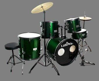 LANDWIN กลองชุด 5 ใบ DrumSet5pcs 22\x16\x12L S -R/BK GPC53-17 GN (สีเขียว)