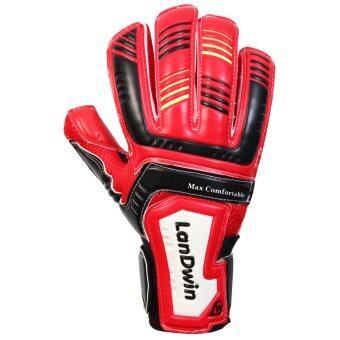 LANDWIN ถุงมือโกล์วฟุตบอล Football Goalkeeper Gloves Max Comfort Fingersave RD/BK
