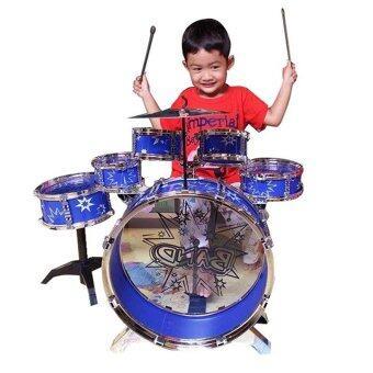 Lansawan กลองชุด 6 ใบ (สีน้ำเงิน)