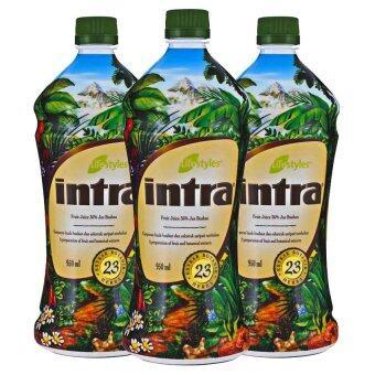 LifeStyles Intra อินทรา น้ำผลไม้เพื่อสุขภาพ 3 ขวด