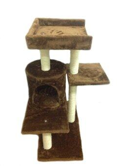 Love Cat Condo คอนโดแมว รุ่น Dogga (Chocolate Brown)