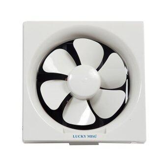 Lucky Misu พัดลมดูดอากาศ ระบายอากาศ 12\ รุ่น LM 567ติดปูน (สีขาว)