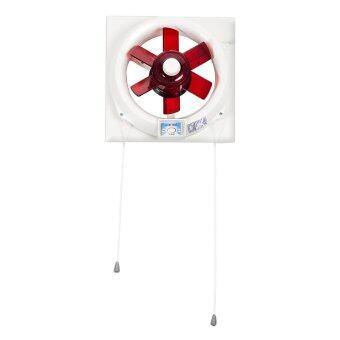 Lucky Misu พัดลมดูดอากาศ 8\ระบายอากาศ 2 ทางติดกระจก รุ่น V20T26 (สีขาว/แดง)