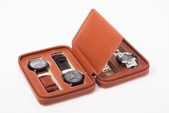 MT กล่องนาฬิกาแบบพกพา 8 เรือน สีน้ำตาล
