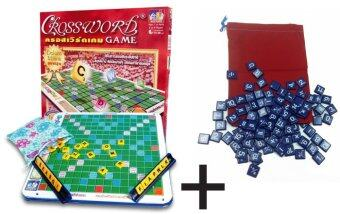 Max Ploys CROSSWORD GAME ครอสเวิร์ดเกม(เกมต่อศัพท์ภาษาอังกฤษ)ชุดมาตรฐาน+เบี้ยหนาเอแม็ท