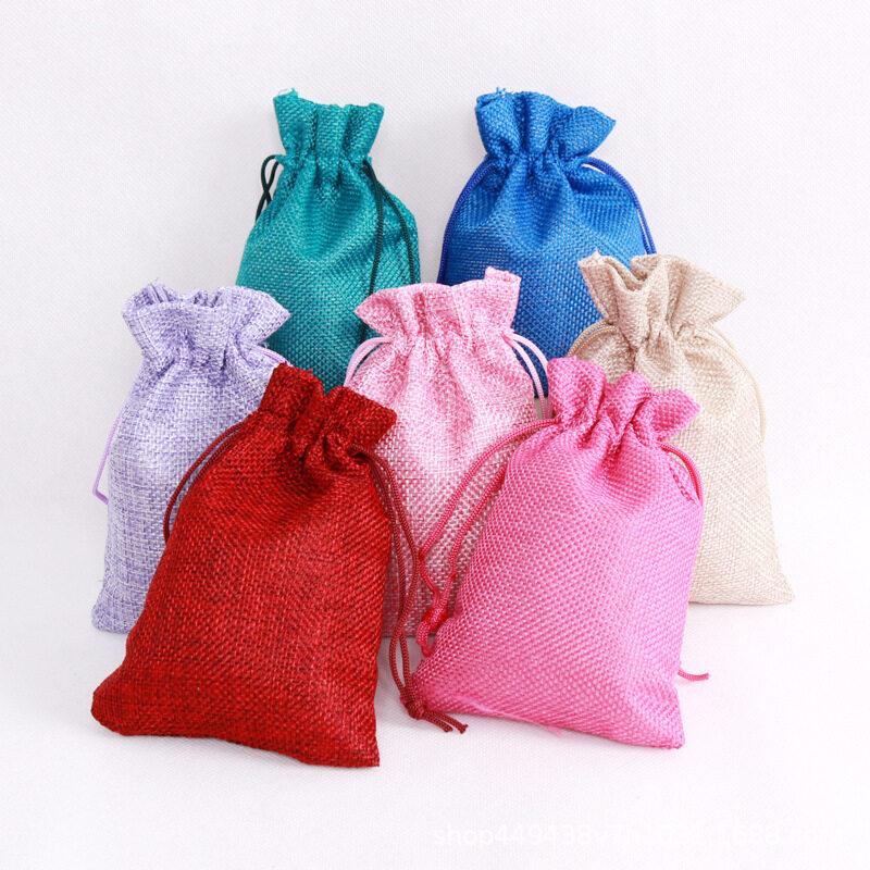 ถุงหูรูดกระสอบ ถุงผ้าหูรูด ถุงหูรูด ขนาด13*18cm ถุงผ้ากระสอบหลากสี หลากขนาด ถุงใส่เครื่องประดับ ของชำร่วย