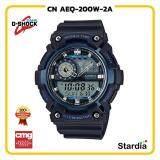 ลดสุดๆ นาฬิกาข้อมือ นาฬิกา Casio นาฬิกา Gshock รุ่น CN AEQ-200W-2A นาฬิกาผู้ชาย นาฬิกาผู้หญิง กันน้ำ - ของแท้ พร้อมกล่อง คู่มือ ใบรับประกัน CMG จัดส่ง kerry ทุกวัน มีประกัน 1 ปี สี ดำ น้ำเงิน