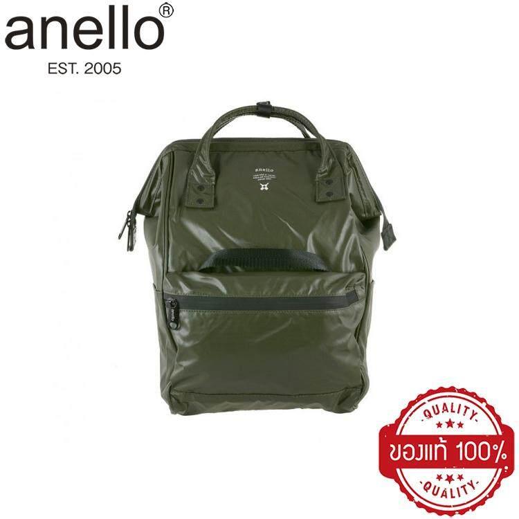 การใช้งาน  กระบี่ [ของแท้ 100%] ANELLO [สีเขียวมะกอก (OLIVE)] รุ่นกันน้ำ 100% (WATER RESISTANT) วัสดุผ้า PVC กระเป๋าเป้สะพายหลัง รุ่นหนังนิ่ม PU Leather ขนาดใหญ่ Regular Classic / ใบเล็กมินิ Mini อเนลโล Anello Backpack