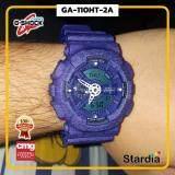 เก็บเงินปลายทางได้ นาฬิกาข้อมือ นาฬิกา Casio นาฬิกา Gshock รุ่น GA-110HT-2A นาฬิกาผู้ชาย นาฬิกาผู้หญิง กันน้ำ - ของแท้ พร้อมกล่อง คู่มือ ใบรับประกัน CMG จัดส่ง kerry ทุกวัน มีประกัน 1 ปี สี น้ำเงิน