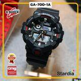 เก็บเงินปลายทางได้ นาฬิกาข้อมือ นาฬิกา Casio นาฬิกา Gshock รุ่น GA-700-1A นาฬิกาผู้ชาย นาฬิกาผู้หญิง กันน้ำ - ของแท้ พร้อมกล่อง คู่มือ ใบรับประกัน CMG จัดส่ง kerry ทุกวัน มีประกัน 1 ปี สี ดำ แดง