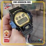 เก็บเงินปลายทางได้ นาฬิกาข้อมือ นาฬิกา Casio นาฬิกา Gshock รุ่น DW-6900CB-1DSนาฬิกาผู้ชาย นาฬิกาผู้หญิง กันน้ำ - ของแท้ พร้อมกล่อง คู่มือ ใบรับประกัน CMG จัดส่ง kerry ทุกวัน มีประกัน 1 ปี