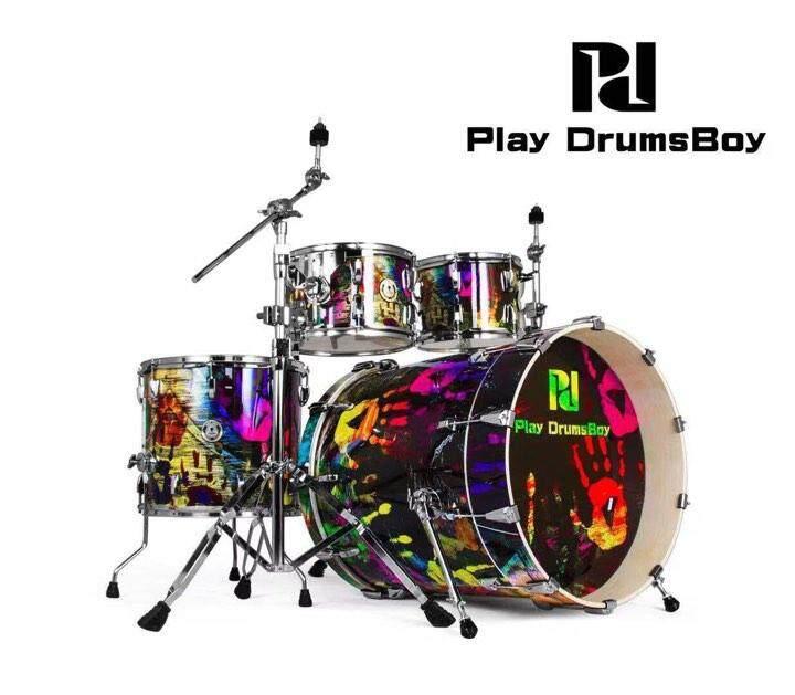 เก็บเงินปลายทางได้ (ส่งฟรีKerry) กลองชุดใหญ่ แบรนด์ดัง Korea พร้อมอุปกรณ์ครบ(ตามรูป) แถมฟรีเก้าอี้กลอง เอกลักษณ์เฉพาะตัว กระเดื่องลึก Play Drums Boy Palyboy Series สี Graffiti Art กลองชุด 5 ใบ ดีไซด์ส