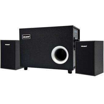 MEGA ลำโพงเกมมิ่ง สเตริโอ 3D Hi-Fi 360° Surround Heavy Bass Membrane Stereo Speaker VOL.Controller Home Theater Speaker (Black)