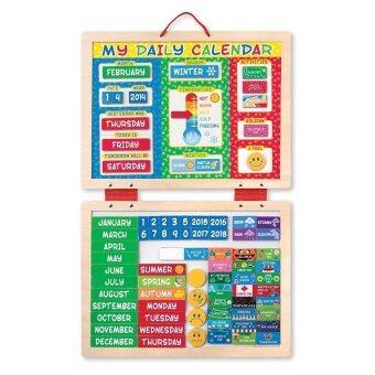 Melissa and Doug My First Daily Magnetic Calendar ชุดกระดานแม่เหล็ก