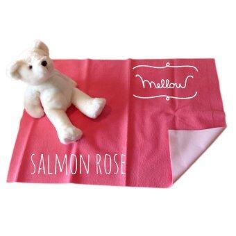 Mellow Quick dry ผ้ารองกันฉี่ ผ้ารองกันน้ำ 100% SIZE M (70x100 CM) Salmon Rose