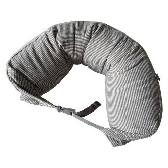 Nampet Shop หมอนรองคอ Japan U-Shape Neck Cushion Fit (Soft Black Stripe)
