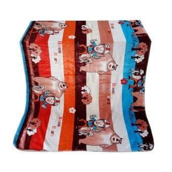 Nampet Shop ผ้าห่มสำหรับเด็ก Cashmere Blanket Double LayerBig Bear