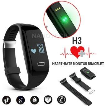 Nanotech สายรัดข้อมืออัจฉริยะ นาฬิกาอัจฉริยะ นาฬิกา สมาร์ทวอทช์ BluetoothPedometer Fitness Heart Rate Monitor Sports Tracker Smartband For IOS Android