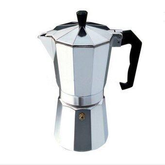 newopen กาต้มกาแฟ สำหรับทำกาแฟสด 1 CUP (สีเงิน)