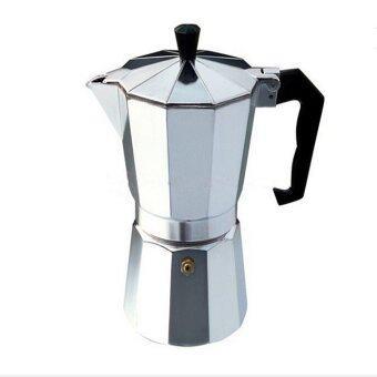 newopen กาต้มกาแฟ สำหรับทำกาแฟสด 9 CUP 450 ml (สีเงิน)