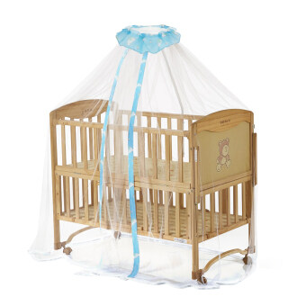 NICESHOP Adorable 160*450cm Baby Infant Mosquito Netting Mosquito Net Toddler Bed Crib Canopy for Baby Cribs (Blue)