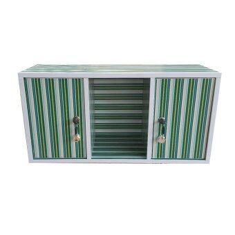NK Furniline ตู้ล็อคเกอร์ ตู้เก็บของเอนกประสงค์ รุ่น Box60-2DK ( ลายเส้นโทนเขียว )