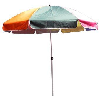 Nuan ร่มสนามใหญ่ ขนาด 42 นิ้ว หนาพิเศษ แข็งแรงสองเท่า (Rainbow)