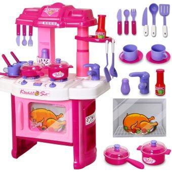 OA baby ชุดครัวจำลองขนาดใหญ่มีเสียง และมีไฟเหมือนจริง (สีชมพู)
