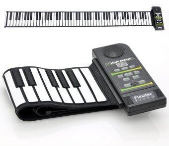 อิเล็กทรอนิกส์ เปียโน 88คีย์ ลิ่มหนา พับเก็บและพกพาได้ พร้อมลำโพงในตัว และ มิดี้ out