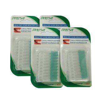 แปรงขัดซอกฟัน 40 ชิ้น/กล่อง (เซ็ต 4 แพ็ค)