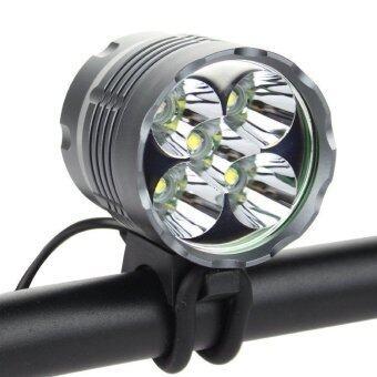 ไฟจักรยาน 7000Lm LED CREE XM-L 5x T6 +Battery Pack + Charger (สีดำ)