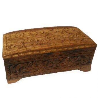 กล่องไม้สักสลักลายสำหรับเก็บเครื่องประดับ