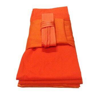ผ้าไตร จีวร ผ้ามัสลิน 5 ขันธ์ ครบชุด 1.8x2.6 ม. (สีเหลืองทอง)