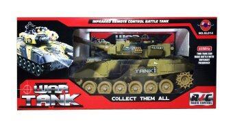 รถถังบังคับวิทยุขนาดใหญ่ ลายทหาร - Infrared RC War Tank