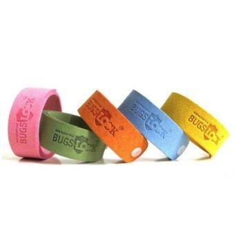 สายรัดข้อมือสำหรับไล่ยุง มีกลิ่นหอม 5 สี 5 ชิ้น (สีชมพู สีเขียว สีส้ม สีเหลือง สีฟ้า)