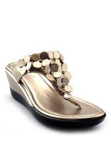 Onto รองเท้าส้นเตารีด รุ่น LP406 (Gold)