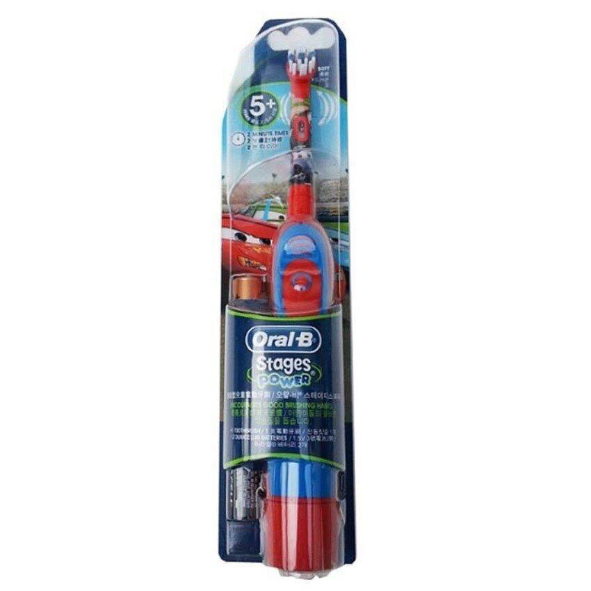 แปรงสีฟันไฟฟ้า ช่วยดูแลสุขภาพช่องปาก สกลนคร Oral B Advance Power Kids Disney Cars Edition แปรงสีฟันไฟฟ้า ลายการ์ตูน