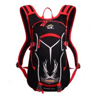 Otzi กระเป๋าเป้สะพายหลัง กระเป๋ากีฬา กระเป๋าเป้นักปั่นจักรยาน กันน้ำ ขนาด 18Lสีแดง/ดำ