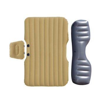 PAAA ที่นอนเป่าลมในรถ รุ่น ใช้ได้กับรถ 4 ประตูทุก รุ่น 3 ชิ้น (สีน้ำตาลทอง)