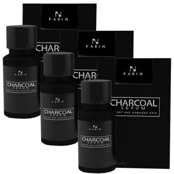 Parin Charcoal Serum Hair Detox ชาโคล เซรั่ม ฟื้นฟูผมเร่งด่วน ล้างสารพิษบนเส้นผม เพียง 1 หยด สยบทุกปัญหาผม ขนาด 15 มล. ( 3 ขวด)