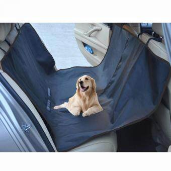 Pet Cat Dog Seat Cover for Car Seats Hammock Style Rear Back Seat Carrier Cover Protects Car Back Seats from Dog Fur Mud(Black)