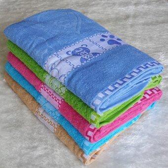 ผ้าเช็ดตัว ผ้าขนหนู ผ้าของขวัญ ขนาด30นิ้วx60นิ้ว(จำนวน6ผืน)คละสีnonan 01