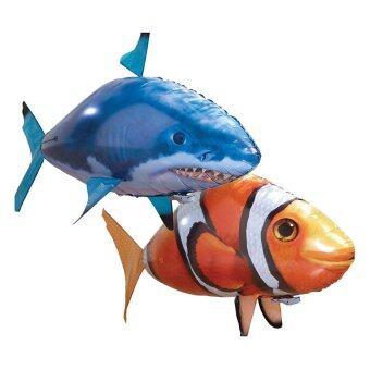 ปลาบอลลูนบังคับวิทยุ ปลาฉลาม (สีส้ม)
