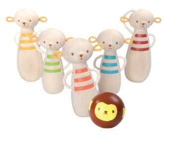 PlanToys ของเล่นไม้ Monkey Bowling Game เกม โบวลิ่ง ลิงน้อยโยนโบว์