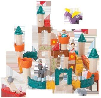 PlanToys ของเล่นไม้ Fantasy Blocks บล็อกมหัศจรรย์ ตัวต่อ ปราสาทเจ้าหญิง