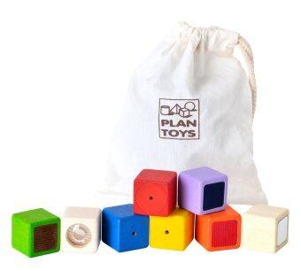 PlanToys บล็อกกิจกรรม ของเล่นไม้ ส่งเสริมพัฒนาการทางด้าน การมอง การสัมผัส และการฟัง