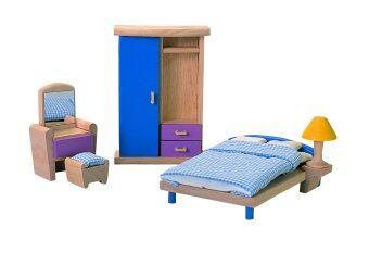 PlanToysBEDROOM - NEO ชุดห้องนอน สไตล์ใหม่ เฟอร์นิเจอร์บ้านตุ๊กตา แปลนทอยส์ ของเล่นไม้ เสริมสร้างจินตนาการ