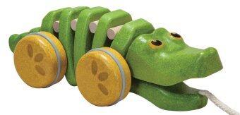 PlanToys จระเข้ลากจูง ของเล่นไม้ เสริมสร้างพัฒนาการของลูกน้อย