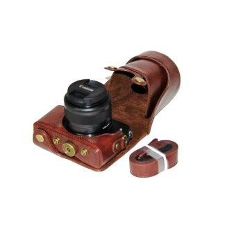 PU Leather Camera Case for Canon EOS M10 15-45 Lens (Coffee)